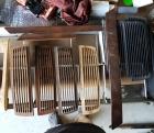 Holzblenden Radio und Armaturenbrett 111