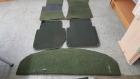 Fußmatten und Hutablage in grün für W116 kurz