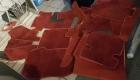Teppichsatz rot für W 111 C und Nappa Leder