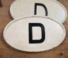 D-Schild beleuchtet unbeleuchtet und 16 KM-Schilde