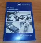 Preisliste Personenwagen Zubehör 1990