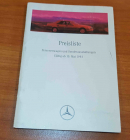 Preisliste Personenwagen + Sonderausstattungen 05/1993