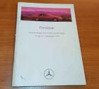 Preisliste Personenwagen + Sonderausstattungen 09/1993