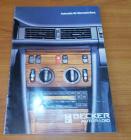 Prospekt Becker Autoradios 1982