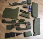 Türverkleidungen Teppiche etc W123 grün