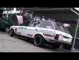 DRIFT Diesel Mercedes W123 with SCANIA turbine